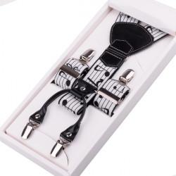 Luxusné hudobné traky biele s notou Assante 90000