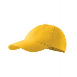 Žltá baseballová čiapka 100% bavlna Adler 81172