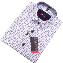 Biela pánska košeľa s krátkym rukávom Native 120304
