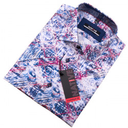 Modrá pánska košeľa s krátkym rukávom Native 120308
