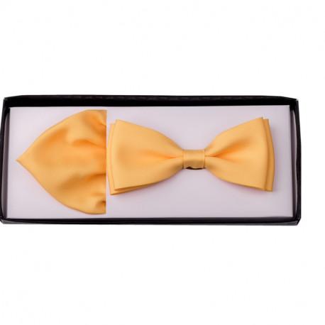 Žltý motýlik s vreckovkou Assante 90215