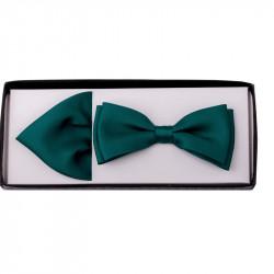 Smaragdový motýlik s vreckovkou Assante 90223