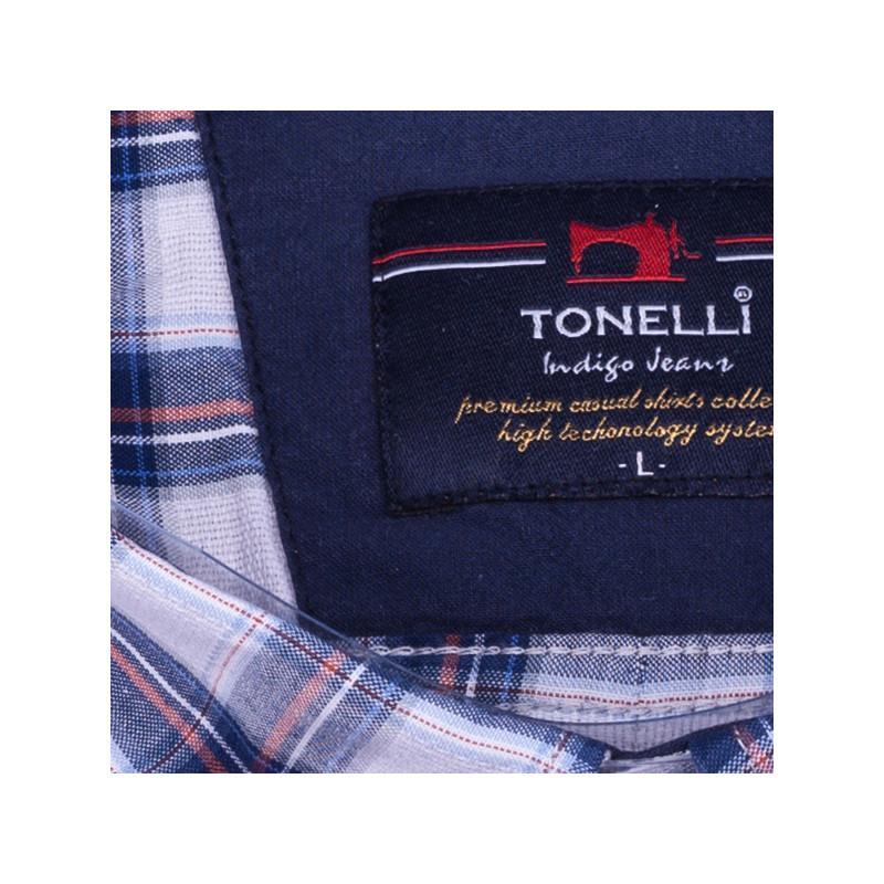 48b99b5fbb02 Modrá pánska košeľa 100% bavlna Tonelli 110812
