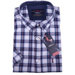 Nadmerná modrá košeľa 100% bavlna Tonelli 110814