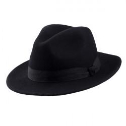 Čierny pánsky klobúk Assante 85028