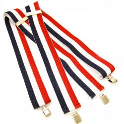 Pánske traky červeno modro biele super široké Assante 90130