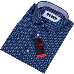Modrá pánska košeľa krátky rukáv regular Native 120311