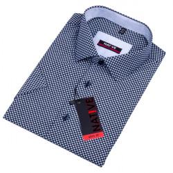 Modrá pánska košeľa s krátkym rukávom slim Native 120314