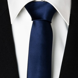 Modrá kravata slim 99146