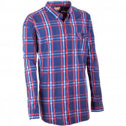 Nadmerná pánska košeľa 100% bavlna modročervená Tonelli 110906