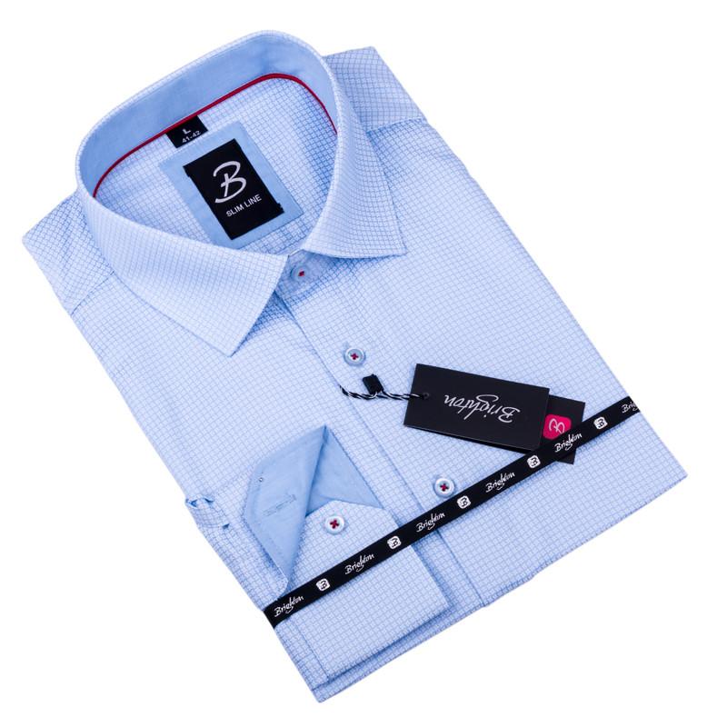 8e5b09c18a2f Sivobiela pánska košeľa slim fit Brighton 109904