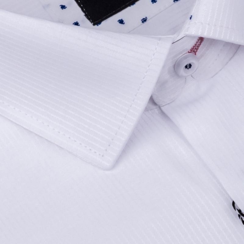 eeea834874bf Biela pánska košeľa slim fit Brighton 109907