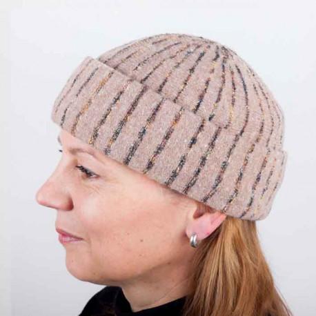 Svetlo hnedá dámska elegantná čiapka TONAK 87311