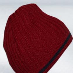 Červená pánska pletená čiapka Pletex 86018