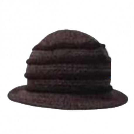 6359a86b8 Čierny klobúk dámsky Pletex 87588