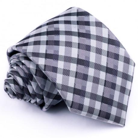 Sivá pánska kravata Greg 91004