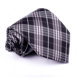 Pánska sivá kravata klasická spoločenská Rene Chagal 91033