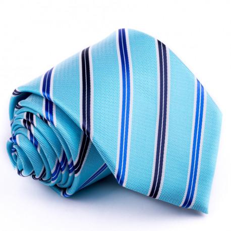 Modrá kravata klasická spoločenská Greg 94094
