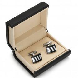 Pánské manžetové knoflíčky černé Assante 90504