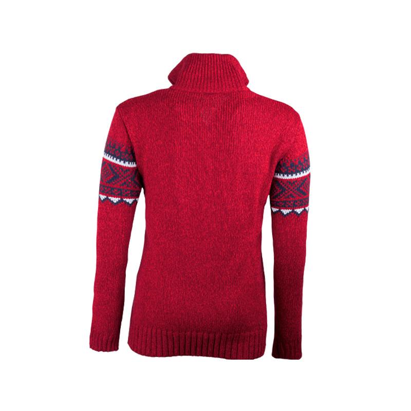 27276ac9b25d Červený pánsky sveter nórsky vzor Assante 51023