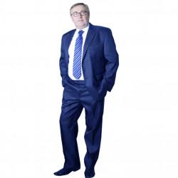 Modrý pánsky oblek skrátený Galant 160615