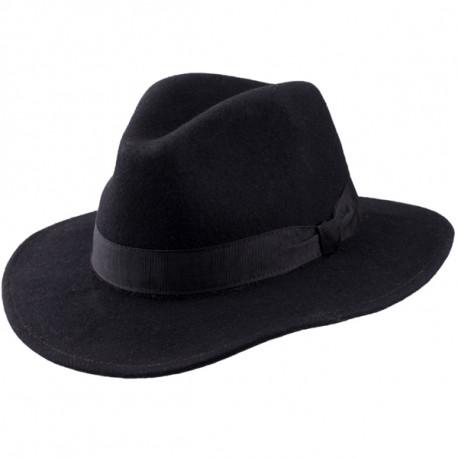 Elegantný čierny pánsky klobúk Assante 85030