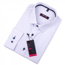 Biela pánska košeľa vypasovaný strih Native 120011
