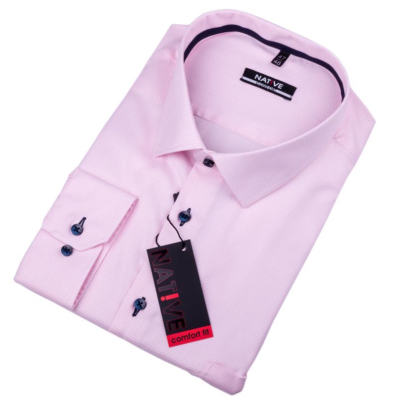 31d529480913 Nadmerná pánska košeľa ružová Native 120510 ...