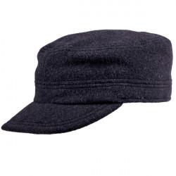 Pánska zimná čiapka fidelka čierna s náušníky Assante 0853/13