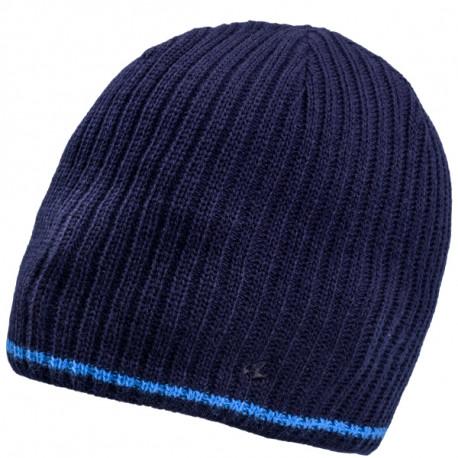 Modrá pletená pánska čiapka Assante 86004