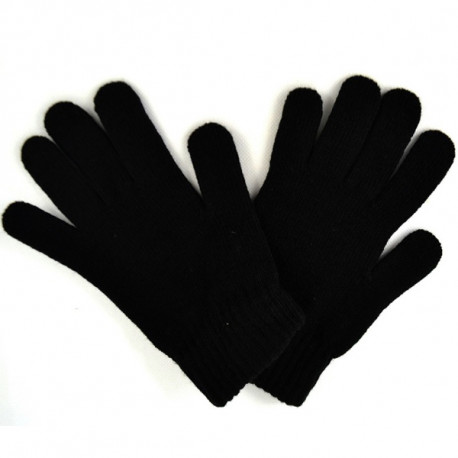 Čierne pletené pánske rukavice Assante 89701