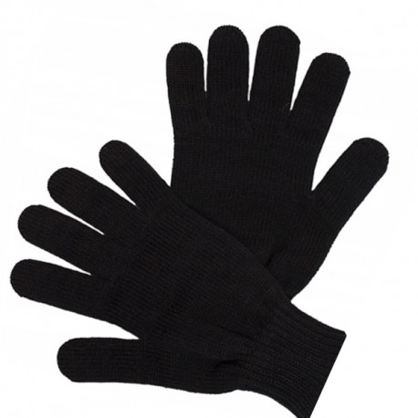 Čierne pletené silné pánske rukavice Assante 89702