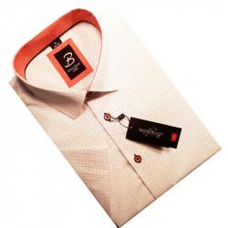 Bielooranžový pánska košeľa s krátkym rukávom rovný strih Brighton 109986