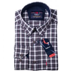 Bieločierná košeľa 100% bavlna Tonelli 110954