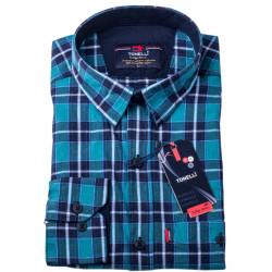 Modrá košeľa 100% bavlna Tonelli 110964
