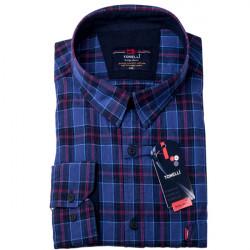 Modročervená káro košeľa 100% bavlna Tonelli 110966