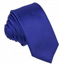 Slim fit parížska modrá kravata Greg 99142