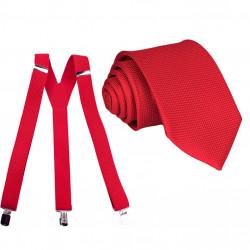 Set traky kravata biely Assante 507