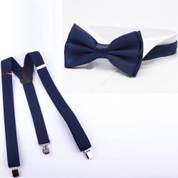 Súprava traky a motýlik modrá Assante 513