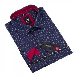 Vzorovaná košeľa Brighton tmavo modrá 109920