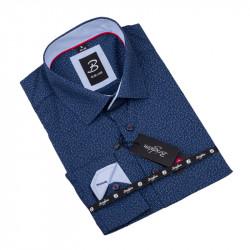 Vzorovaná košeľa Brighton tmavo modrá 109921