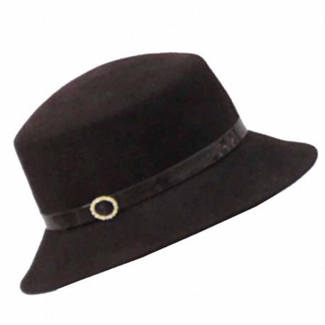 62744f7af Hnedý elegantný dámsky klobúk ANYTRA 87048