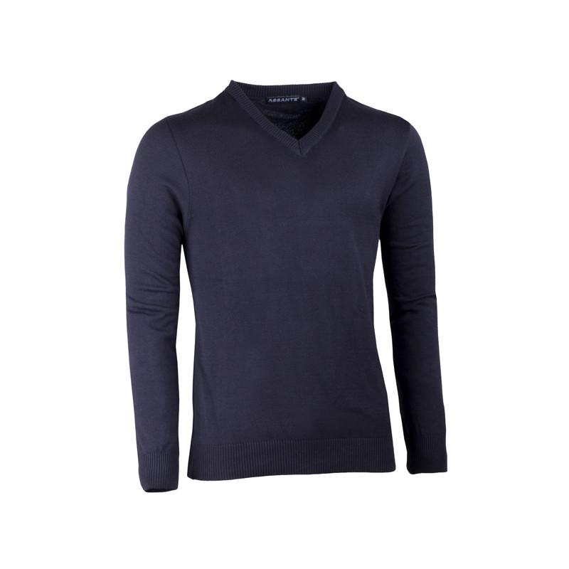 bdabba98840e Čierny pánsky sveter do véčka Assante 51018