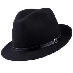 Čierny pánsky klobúk vodeodolný Assante 85007