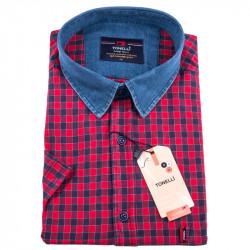 Červenomodrá kockovaná košeľa Tonelli 110833