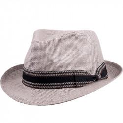 Slamený klobúk sivý Assante 80009