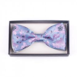 Pánsky motýlik farba modrá-ružová Assante 90389