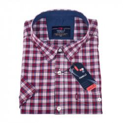 Biela košeľa s červenomodrým károvaním, nadmerná košeľaTonelli 110865
