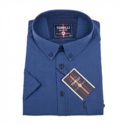 Tmavo modrá nadmerná košeľa Tonelli 110860