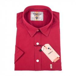 Tehlovo červená košeľa Tonelli 110856
